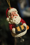 Santa Claus Photo Prints - Santa Claus - Antique Ornament - 31 Print by Jill Reger