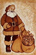 Santa Claus Prints - Santa Claus Bag Print by Georgeta  Blanaru