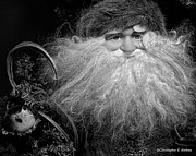 Christopher Holmes Photo Metal Prints - Santa Claus - BW Metal Print by Christopher Holmes