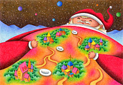 Earth Star Drawings - Santa Claus came to town by T Koni