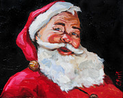 Faces Paintings - Santa Claus by Carole Foret