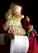 List Prints - Santa Claus Print by Diane Diederich