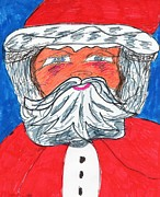Claus Mixed Media Posters - Santa Claus Poster by Elinor Rakowski