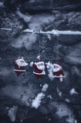 Snow Covered Posters - Santa Claus Poster by Joana Kruse