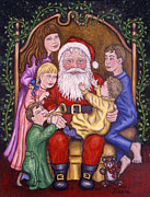 Christmas Prints - Santa Claus Print by Linda Mears