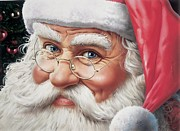 Navidad Paintings - Santa Claus by Nilton Ramalho
