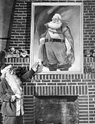 Santa Claus Prints - Santa Claus Portrait Uproar Print by Underwood Archives
