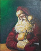 Santa Claus Cards Originals - Santa Claus Sleeps by Valdengrave Okumu