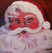 Teen Painting Originals - Santa Clause by Sharon Duguay