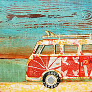 Surf Art Mixed Media Posters - Santa Cruise Poster by Danny Phillips