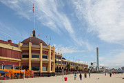 Ball Parks Prints - Santa Cruz Beach Boardwalk California 5D23748 Print by Wingsdomain Art and Photography