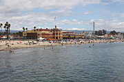Roller Coaster Photos - Santa Cruz Beach Boardwalk California 5D23780 by Wingsdomain Art and Photography