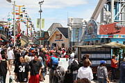 Roller Coaster Photos - Santa Cruz Beach Boardwalk California 5D23848 by Wingsdomain Art and Photography