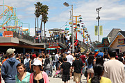 Roller Coaster Photos - Santa Cruz Beach Boardwalk California 5D23849 by Wingsdomain Art and Photography