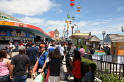 Roller Coaster Photos - Santa Cruz Beach Boardwalk California 5D23860 by Wingsdomain Art and Photography