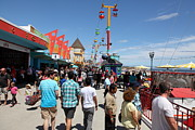Roller Coaster Photos - Santa Cruz Beach Boardwalk California 5D23865 by Wingsdomain Art and Photography