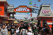 Roller Coaster Photos - Santa Cruz Beach Boardwalk California 5D23867 by Wingsdomain Art and Photography