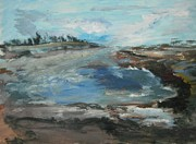 Flood Originals - Santa Cruz Beach Flood by Edward Wolverton