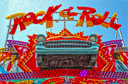 Santa Cruz Boardwalk - Rock And Roll Print by Gregory Dyer