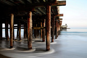 Moving Water Prints - Santa Cruz Pier Print by Bob Christopher