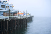 Santa Cruz Pier In The Fog Print by Artist and Photographer Laura Wrede