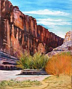 National Park Paintings - Santa Elaina Canyon by Jennifer Hillman