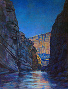 Texas Pastels Originals - Santa Elena Canyon Big Bend Texas by Dan Terry