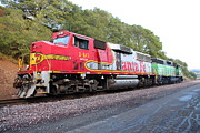 Santa Fe Framed Prints - Santa Fe and Burlington Northern BNSF Locomotives at Fernandez Ranch California - 5D21154 Framed Print by Wingsdomain Art and Photography