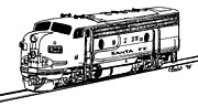 Diesel Locomotives Prints - Santa Fe F7 Print by Craig Bass