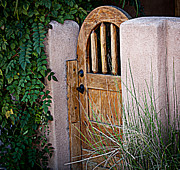 Entryway Prints - Santa Fe Gate Print by Patrice Zinck