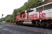 Santa Fe Framed Prints - Santa Fe Locomotive at Fernandez Ranch California - 5D21167 Framed Print by Wingsdomain Art and Photography
