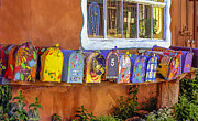 Santa Fe Mailboxes 2 Print by Wendell Thompson