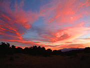 Santa Fe National Forest Photos - Santa Fe Sunset by Karl Moffatt