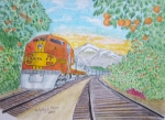 Kathy Marrs Chandler Art - Santa Fe Super Chief Train by Kathy Marrs Chandler