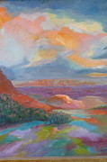 Colorfull Paintings - Santa Fe Vista by Robert Libutti