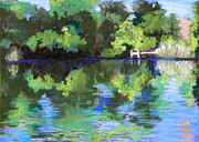 Santa Fe Pastels Originals - Santa Fe Wetlands by Mary Olivera