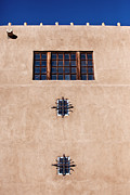 Window Panes Framed Prints - Santa Fe Windows Framed Print by Art Block Collections