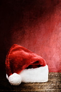 Picture Hat Posters - Santa Hat Poster by Stephanie Frey