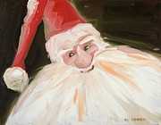 Santa Claus Paintings - Santa by Hil Hawken