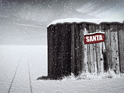 Snowing Digital Art Prints - Santa is on The Way Print by Wim Lanclus