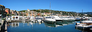 Harbor Dock Prints - Santa Margherita Ligure Panoramic Print by Adam Romanowicz