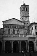 Trastevere Framed Prints - santa maria de trastavere in Rome Lazio Italy Framed Print by Joe Fox
