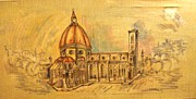 Catholic  For Sale Paintings - Santa Maria Del Fiore by Armen Abel Babayan
