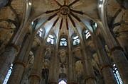 Santa Maria Del Mar Basilica I Print by Kathy Schumann