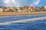 Santa Monica Beach View  Print by Lynn Bauer