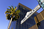 Upscale Prints - Santa Monica Blvd Sign in Beverly Hills California Print by Paul Velgos