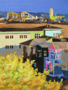 Santa Monica Paintings - Santa Monica by Nancie Johnson