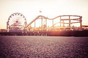Paul Velgos - Santa Monica Pier Roller Coaster Retro Photo