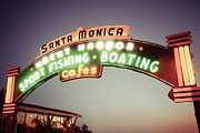 Paul Velgos - Santa Monica Pier Sign...
