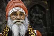 Front View Prints - Santa Sadhu Print by David Longstreath